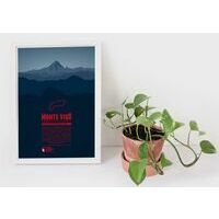 Marmota Maps Alpine Mountain Print Monte Viso