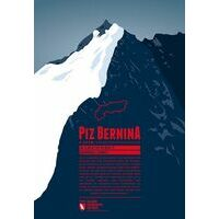 Marmota Maps Alpine Mountain Print Piz Bernina