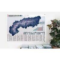 Marmota Maps Wandkaart Skigebieden Alpen - 275 Skigebiete