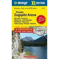 Mayr Wandelkaart 412 Tiroler Zugspitz Arena XL