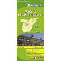 Michelin Wegenkaart 121 Madrid & Omgeving