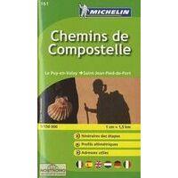 Michelin Overzichtskaart Chemin De Compostelle