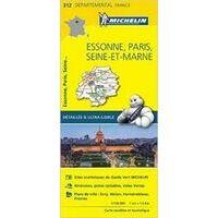 Michelin Wegenkaart 312 Essonne Paris Seine-et-Marne