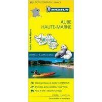 Michelin Wegenkaart 313 Aube Haute-Marne