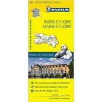 Michelin Wegenkaart 317 Indre-et-Loire Marne-et-Loire