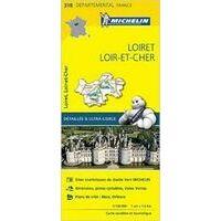 Michelin Wegenkaart 318 Loir-et-Cher Loiret