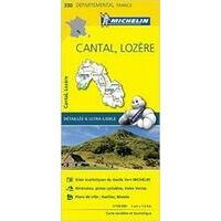 Michelin Wegenkaart 330 Cantal Lozère