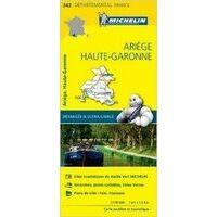 Michelin Wegenkaart 343 Ariège Haute-Garonne