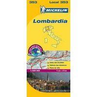 Michelin Wegenkaart 353 Lombardije