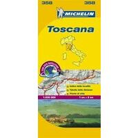Michelin Wegenkaart 358 Toscane