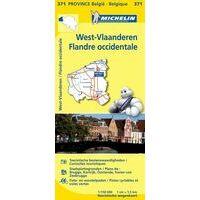 Michelin Wegenkaart 371 West-Vlaanderen