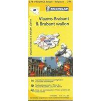 Michelin Wegenkaart 374 Vlaams-Brabant