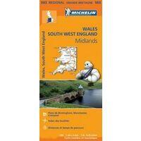 Michelin Wegenkaart 503 Wales & South West England
