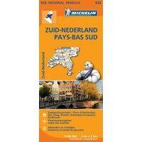 Michelin Wegenkaart 532 Zuid-Nederland