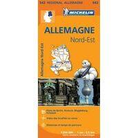 Michelin Wegenkaart 542 Duitsland Noordoost