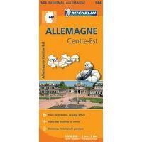 Michelin Wegenkaart 544 Duitsland Midden-Oost