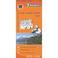 Michelin Wegenkaart 551 Zwitserland Noord