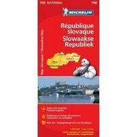 Michelin Wegenkaart 756 Slowakije 1:500000