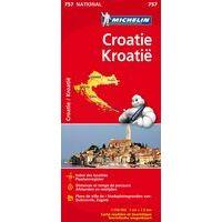 Michelin Wegenkaart 757 Kroatië