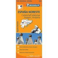 Michelin Wegenkaart 574 Spanje Noordoost