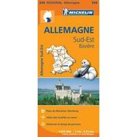 Michelin Wegenkaart 546 Duitsland Zuidoost