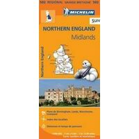 Michelin Wegenkaart 502 Engeland Noord  & Midlands