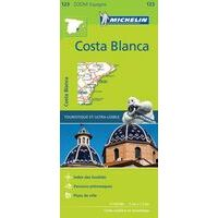 Michelin Wegenkaart 123 Costa Blanca