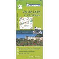 Michelin Wegenkaart 116 Val De Loire & Kastelen