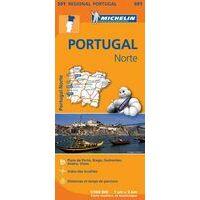 Michelin Wegenkaart 591 Noord-Portugal