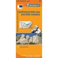 Michelin Wegenkaart 583 Northeastern USA