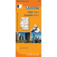 Michelin Wegenkaart 585 USA West, Canada West