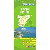 Michelin Wegenkaart 124 Costa Del Sol