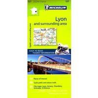 Michelin Wegenkaart 127 Lyon En Omgeving