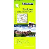 Michelin Wegenkaart 129 Toulouse En Omgeving
