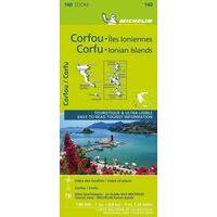 Michelin Wegenkaart 140 Korfoe - Corfu En Ionische Eilanden