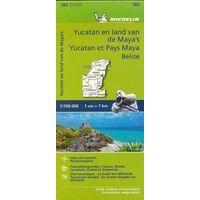 Michelin Wegenkaart 185 Yucatan En Land Van De Maya's