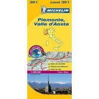 Michelin Wegenkaart 351 Piemonte, Valle D'Aosta