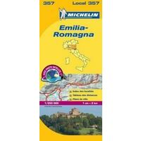 Michelin Wegenkaart 357 Emilia-Romagna