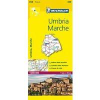 Michelin Wegenkaart 359 Umbrië  Le Marche