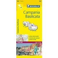 Michelin Wegenkaart 362 Campania Basilicata