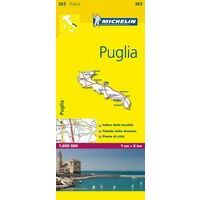 Michelin Wegenkaart 363 Puglia Apulië