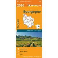 Michelin Wegenkaart 519 Bourgogne - Bourgondië 2020