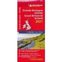 Michelin Wegenkaart 713 Groot-Brittanië En Ierland 2021