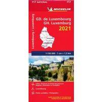 Michelin Wegenkaart 717 Luxemburg 2021