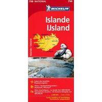 Michelin Wegenkaart 750 IJsland