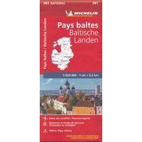 Michelin Wegenkaart 781 Baltische Staten