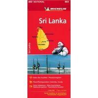 Michelin Wegenkaart 803 Sri Lanka