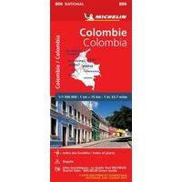 Michelin Wegenkaart 806 Colombia
