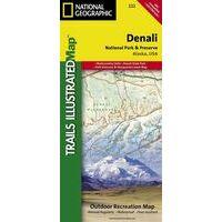 National Geographic Wandelkaart 222 Denali National Park