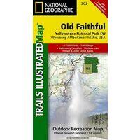 National Geographic Wandelkaart 302 Yellowstone Southwest